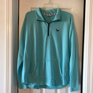 VS PINK Large Blue Zip Up Pullover Jacket
